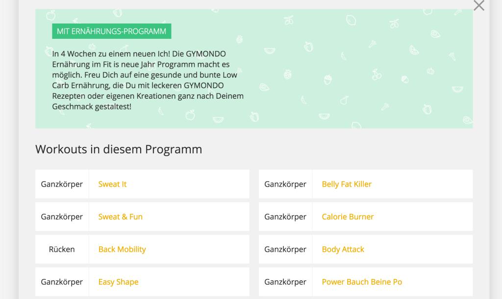 Gymondo Programm